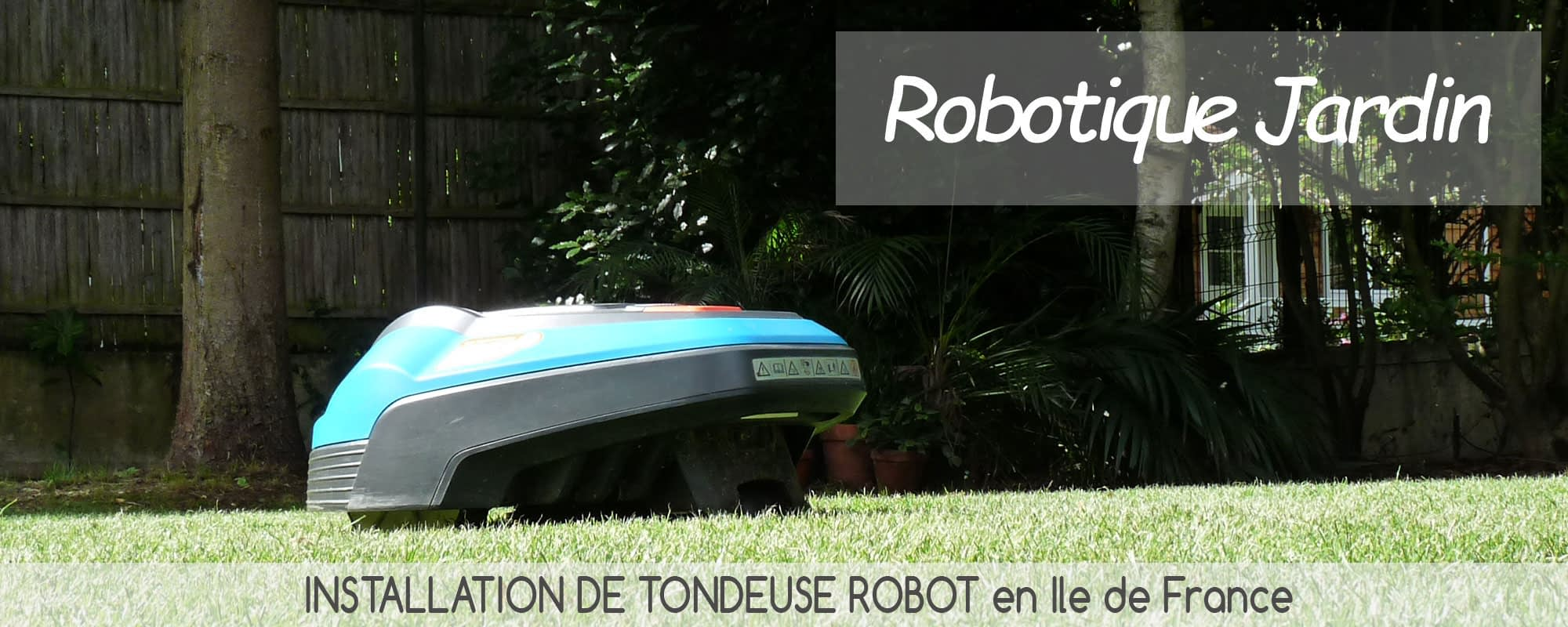 installation tondeuse robot