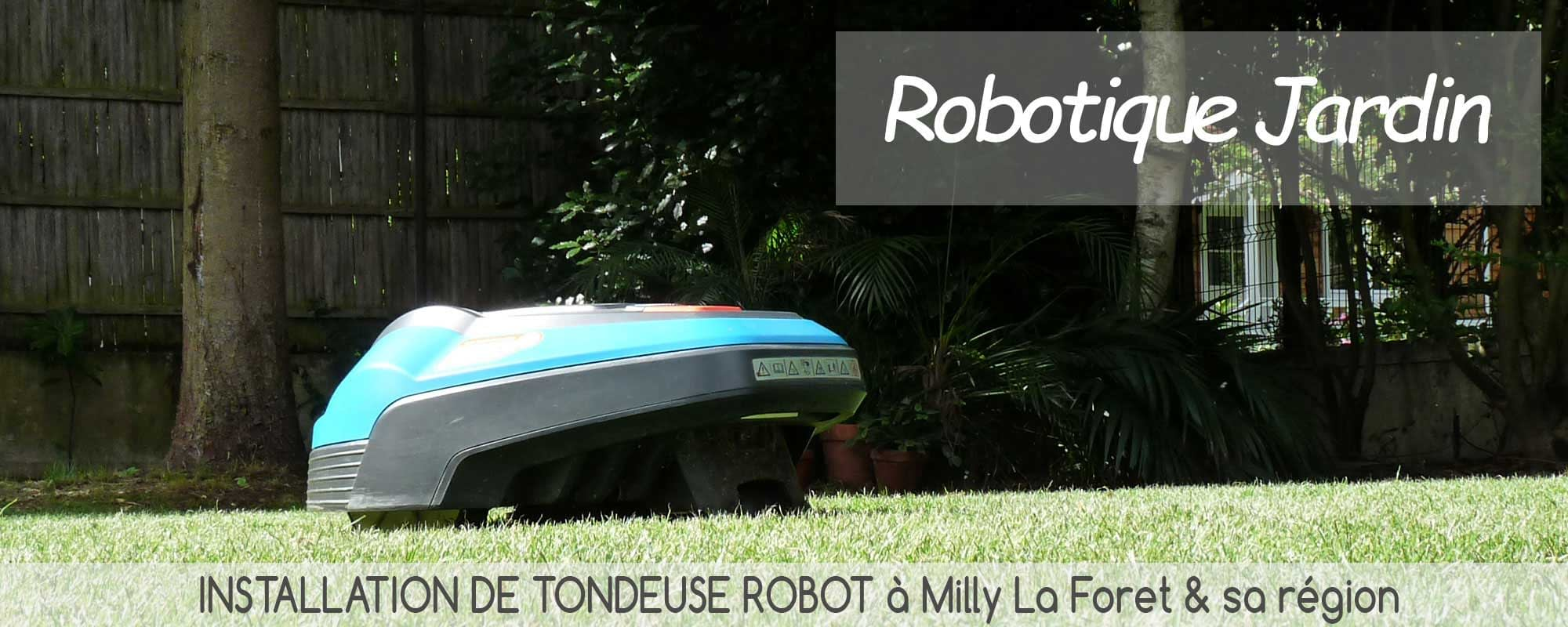 installation tondeuse robot milly la foret
